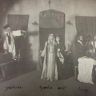 Rehearsing <em>The Dybbuk</em>, 1919